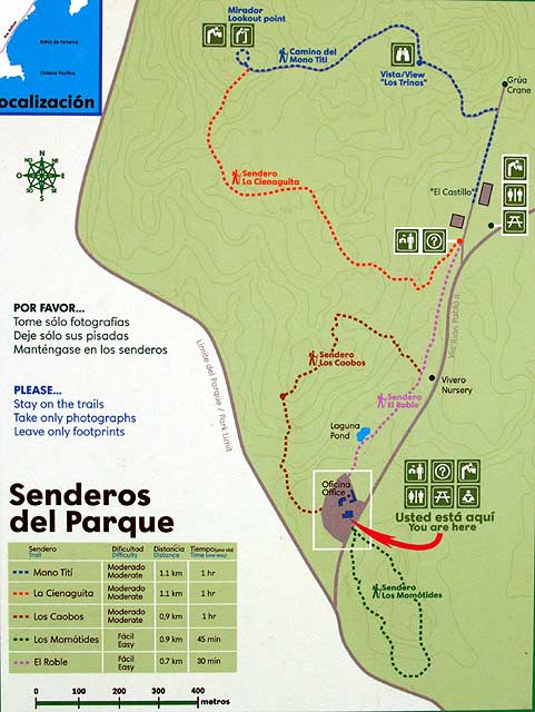 Parque Natural Metropolitano - Map
